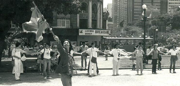 Bomba da Paz, Cinelândia, 1984 - detalhe