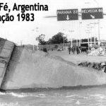 A grande inundação de Santa Fé, Argentina, em 1983.